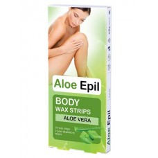 Aloe Epil Depilačné voskové pásiky na telo 16+2