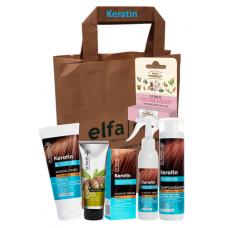 Dr. Santé darčeková taška 6ks Keratín
