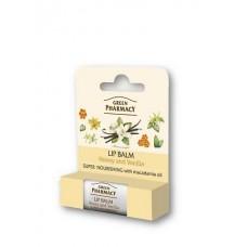 Green Pharmacy výživný balzam na pery med a vanilka 3,6 g