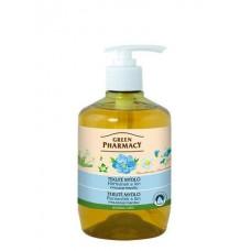 Green Pharmacy tekuté mydlo - vyhladzuje pokožku 460 ml - Rumanček a ľan