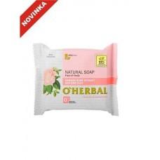 O`Herbal prírodné mydlo s extraktom Damaškovej ruže a červenej hliny 100 g