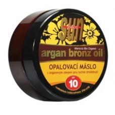 SUN Argan oil opaľovacie maslo SPF 10 s arganovým olejom pre rýchle zhnednutie 200ml