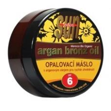 SUN Argan oil opaľovacie maslo SPF 6 s arganovým olejom pre rýchle zhnednutie 200ml