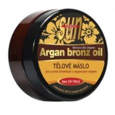 SUN Argan oil telové maslo BRONZE pre rýchle zhnednutie 200ml