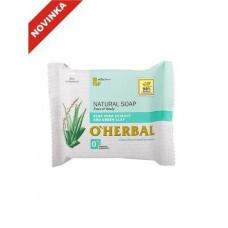 O`Herbal prírodné mydlo s extraktom Aloe vera a zelenou hlinou 100 g