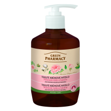Green Pharmacy tekuté krémové mydlo - zachováva mladú pokožku 460 ml - Pižmová ruža a bavlna